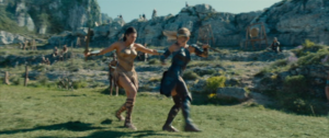 Diana (left) fighting Antiope (right)