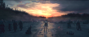 8 Diana as a central figure in this frame after the battle against Ares. Wonder Woman, 2017.